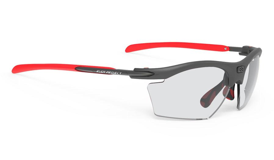 Rudy Project Rydon Slim Prescription Sunglasses - Directly Glazed - Matte Graphite & Red