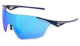 Red Bull Flow Sunglasses - Matte White + Blue / Smoke Blue Mirror + Transparent
