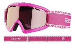 Salomon Kiwi Ski Goggles - Matte Pink / Universal Silver Mirror