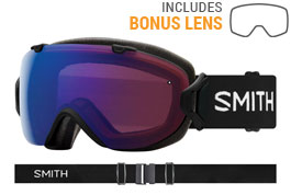 Smith Optics I/OS Ski Goggles - Black / ChromaPop Photochromic Rose Flash + ChromaPop Sun Black