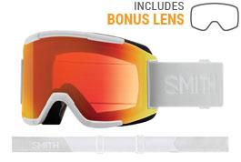 Smith Optics Squad Ski Goggles - White Vapor / ChromaPop Everyday Red Mirror + Yellow