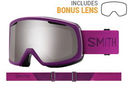 Smith Optics Riot Ski Goggles - Monarch / ChromaPop Sun Platinum Mirror + Yellow