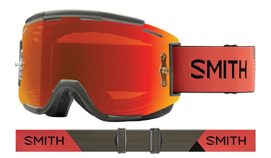 Smith Squad MTB Prescription Goggles - Sage & Red Rock / ChromaPop Everyday Red Mirror + Clear