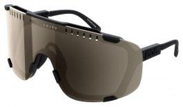 POC Devour Sunglasses - Uranium Black / Clarity Trail Brown with Silver Mirror + Clear