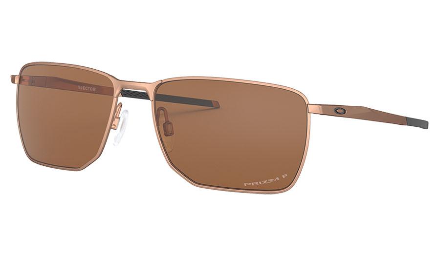 Oakley Ejector Sunglasses - Satin Rose Gold / Prizm Tungsten Polarised
