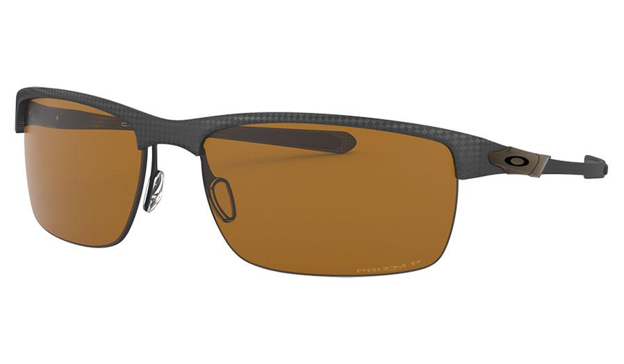 Oakley Carbon Blade Sunglasses - Matte Carbon Fibre / Prizm Tungsten Polarised