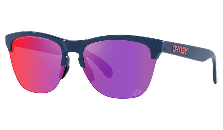 Oakley Frogskins Lite Sunglasses - Tour de France Collection Matte Poseidon / Prizm Road