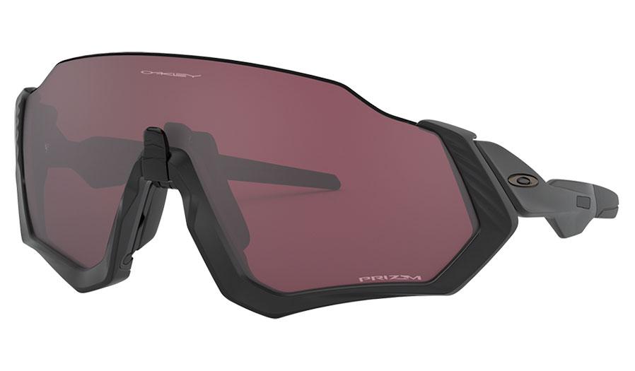 Oakley Flight Jacket Sunglasses - Matte Black / Prizm Road Black