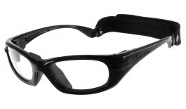 Progear Eyeguard Glasses - Shiny Metallic Black / Clear