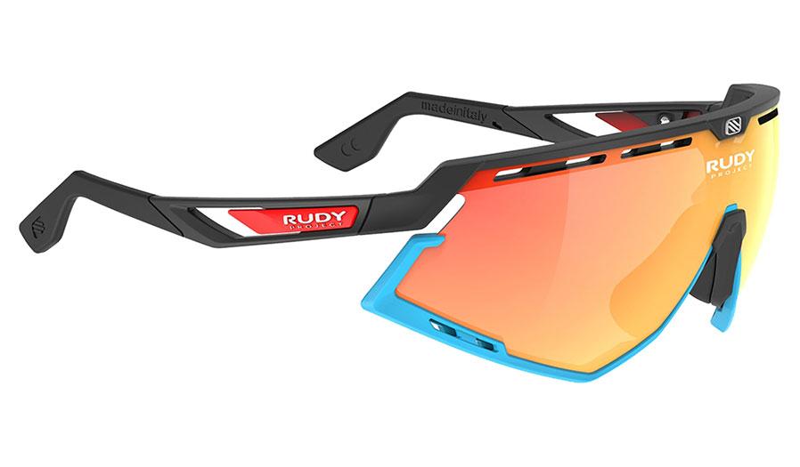 Rudy Project Defender Prescription Sunglasses - Clip-On Insert - Matte Black & Blue (Bahrain McLaren Edition) / Multilaser Orange