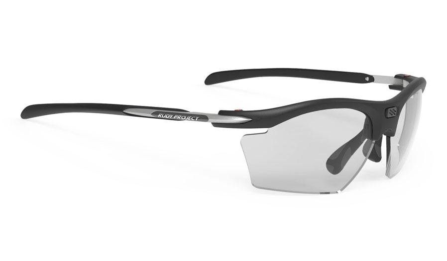 Rudy Project Rydon Slim Prescription Sunglasses - Clip-On Insert - Matte Black / ImpactX 2 Photochromic Black