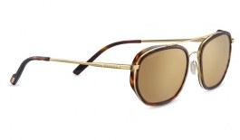 Serengeti Boron Sunglasses - Dark Tortoise & Gold / Drivers Gold Mirror Polarised Photochromic