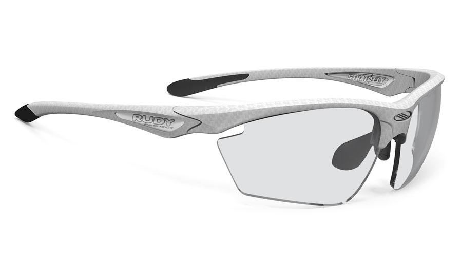 Rudy Project Stratofly Prescription Sunglasses - ImpactRX Directly Glazed - White Carbonium