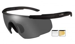 Wiley X Saber Advanced Prescription Sunglasses - Clip-On Insert - Matte Black / Smoke Grey + Clear + Light Rust