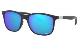 Ray-Ban RB4330CH Chromance Sunglasses - Sand Black / Green Blue Mirror Chromance Polarised