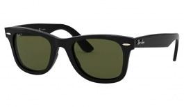 Ray-Ban RB4340 Wayfarer Ease Sunglasses - Black / Green Polarised