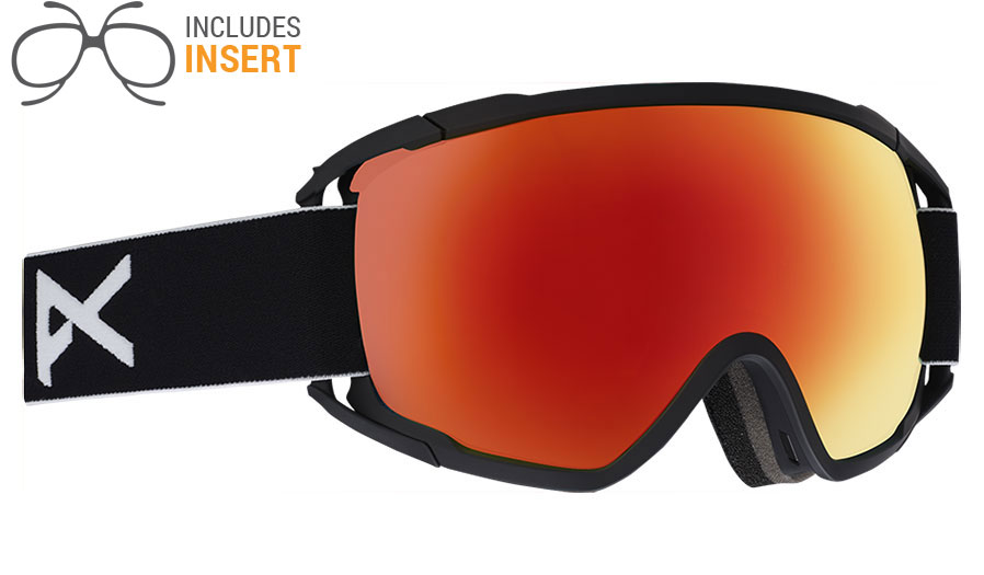 b2af9061c6b Anon Circuit Prescription Ski Goggles - Black   SONAR Red - RxSport