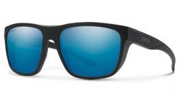 Smith Barra Sunglasses - Matte Black / ChromaPop Blue Mirror Polarised