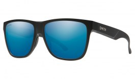 Smith Lowdown XL 2 Sunglasses - Matte Black / ChromaPop Blue Mirror Polarised