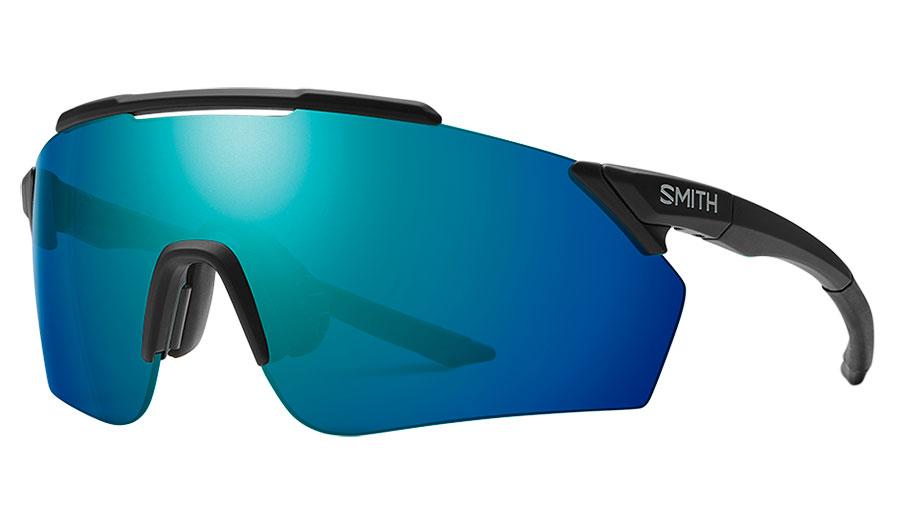 Smith Ruckus Sunglasses - Matte Black / ChromaPop Opal Mirror + ChromaPop Contrast Rose