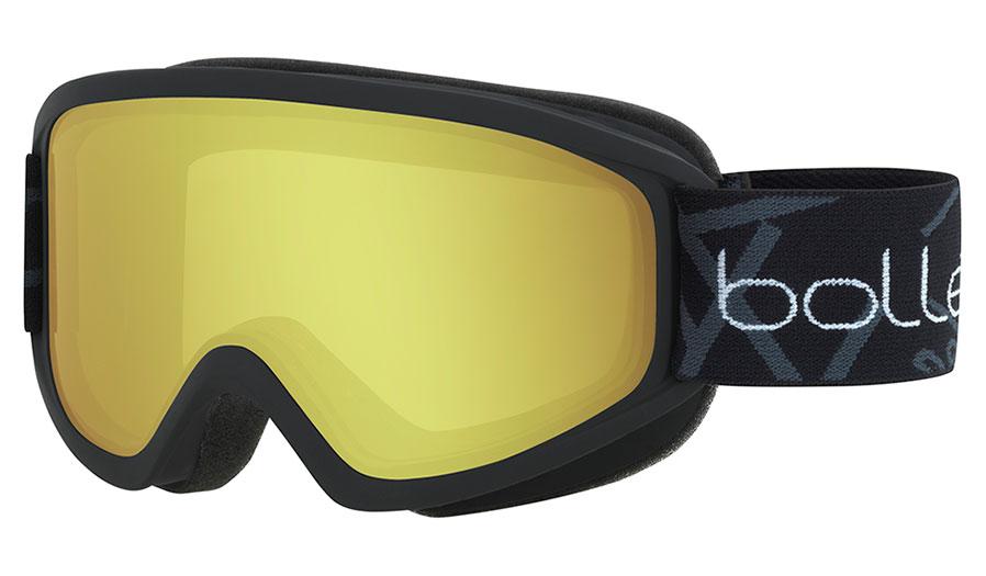 Bolle Freeze Ski Goggles - Matte Black / Lemon