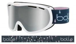 Bolle Sierra Ski Goggles - Shiny White & Pink / Black Chrome