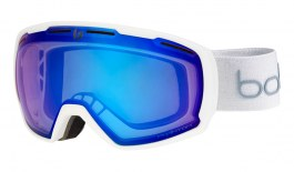Bolle Laika Ski Goggles - Matte White Monogram / Phantom Vermillon Blue Photochromic