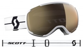 Scott Faze II Ski Goggles - White Black / Light Sensitive Bronze Chrome