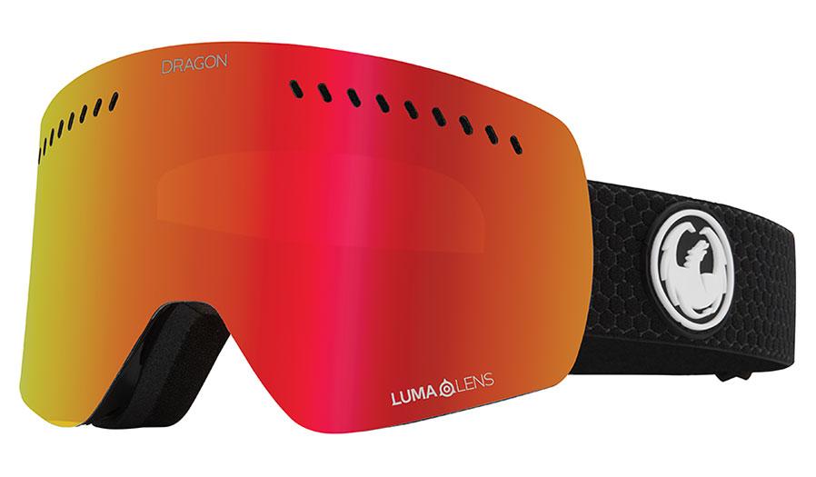 Dragon NFXS Ski Goggles - Split / Lumalens Red Ion + Lumalens Rose