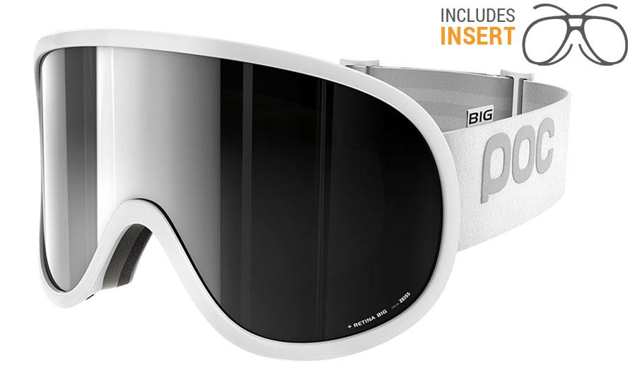 POC Retina Big Prescription Ski Goggles - Hydrogen White / Bronze Silver Mirror