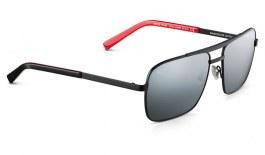 Maui Jim Compass Sunglasses - Matte Black / Dual Mirror Silver to Black Polarised