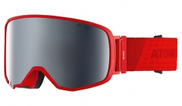 Atomic Revent L Ski Goggles - Red / Silver Stereo HD