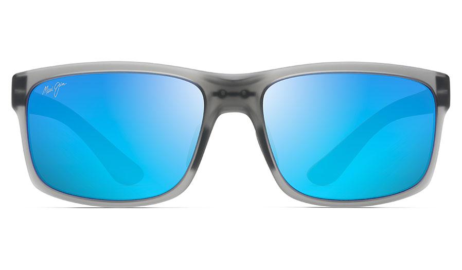 ebddfa32dec0f Maui Jim Pokowai Arch Sunglasses - Translucent Matte Grey   Blue ...