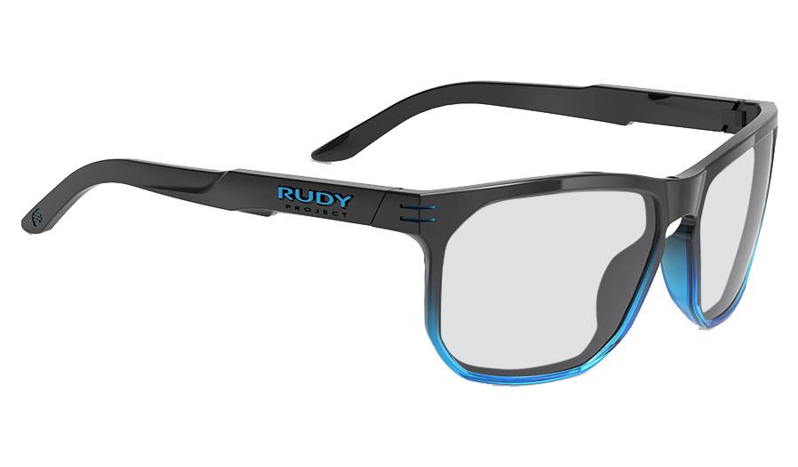 Rudy Project Soundrise Prescription Sunglasses - Gloss Black Crystal Blue Fade