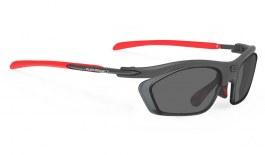 Rudy Project Rydon Prescription Sunglasses - Optical Dock - Matte Graphite & Red