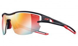Julbo Aero Sunglasses - Black & Red / Reactiv Performance 1-3 Red Flash Photochromic