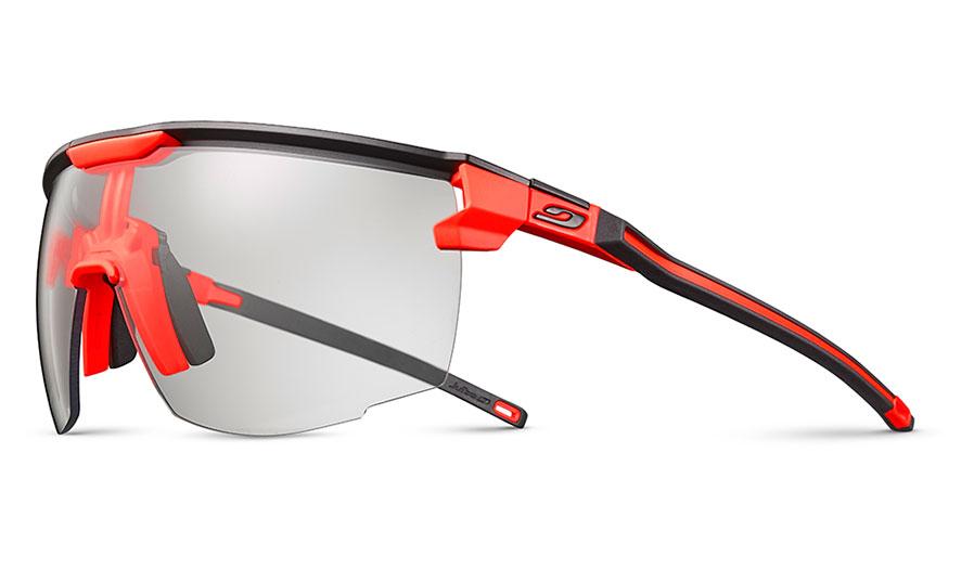 Julbo Ultimate Prescription Sunglasses - Clip-On Insert - Matte Black & Orange / Reactiv Performance 0-3 Photochromic