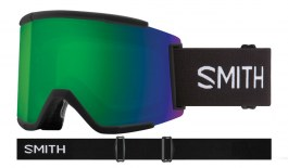 Smith Squad XL Prescription Ski Goggles - Black / ChromaPop Sun Green Mirror + ChromaPop Storm Rose Flash