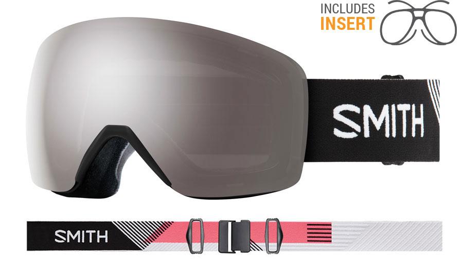 Smith Optics Skyline Prescription Ski Goggles - Strike / ChromaPop Sun Platinum Mirror