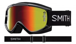 Smith Fuel V.1 MTB Goggles - Black / Red Mirror + Clear