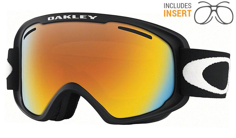 1372bb2901 Oakley O Frame 2.0 XM Prescription Ski Goggles - Matte Black   Fire Iridium  - RxSport