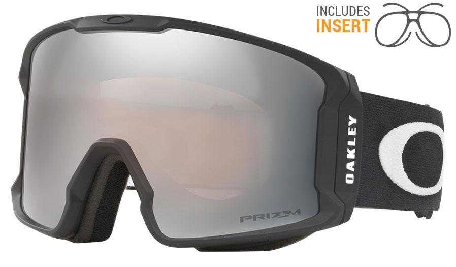 ab2085d9a93 Oakley Line Miner Prescription Ski Goggles - Matte Black   Prizm Black  Iridium - RxSport