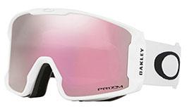 Oakley Line Miner Prescription Ski Goggles - Matte White / Prizm HI Pink Iridium