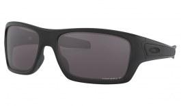Oakley Turbine Sunglasses - Matte Black / Prizm Grey Polarised