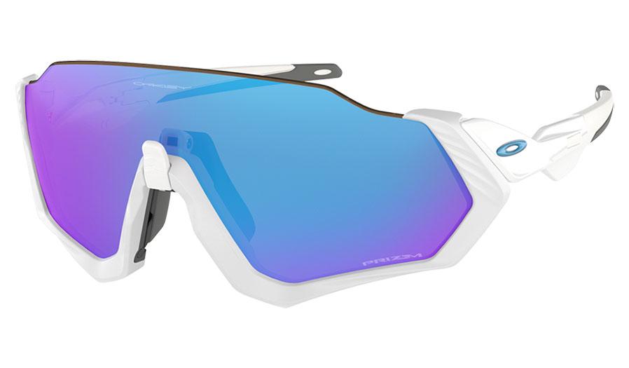 Oakley Flight Jacket Sunglasses - Matte White / Prizm Sapphire