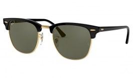 Ray-Ban RB3016 Clubmaster Sunglasses - Black / Green Polarised