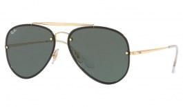 Ray-Ban RB3584N Blaze Aviator Sunglasses - Gold / Green
