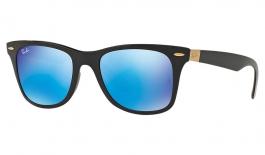 Ray-Ban RB4195 Wayfarer Liteforce Sunglasses - Black / Blue Flash