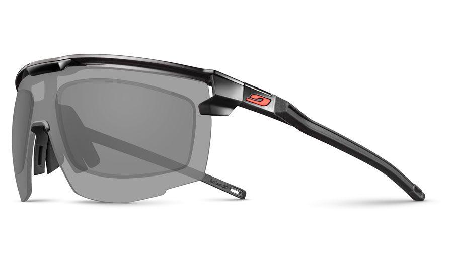 Julbo Ultimate Prescription Sunglasses - Directly Glazed - Matte Black & Red