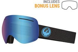 Dragon X1 Ski Goggles - Split / LumaLens Blue Ion + LumaLens Amber
